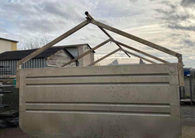 Barre de toit remorque inox